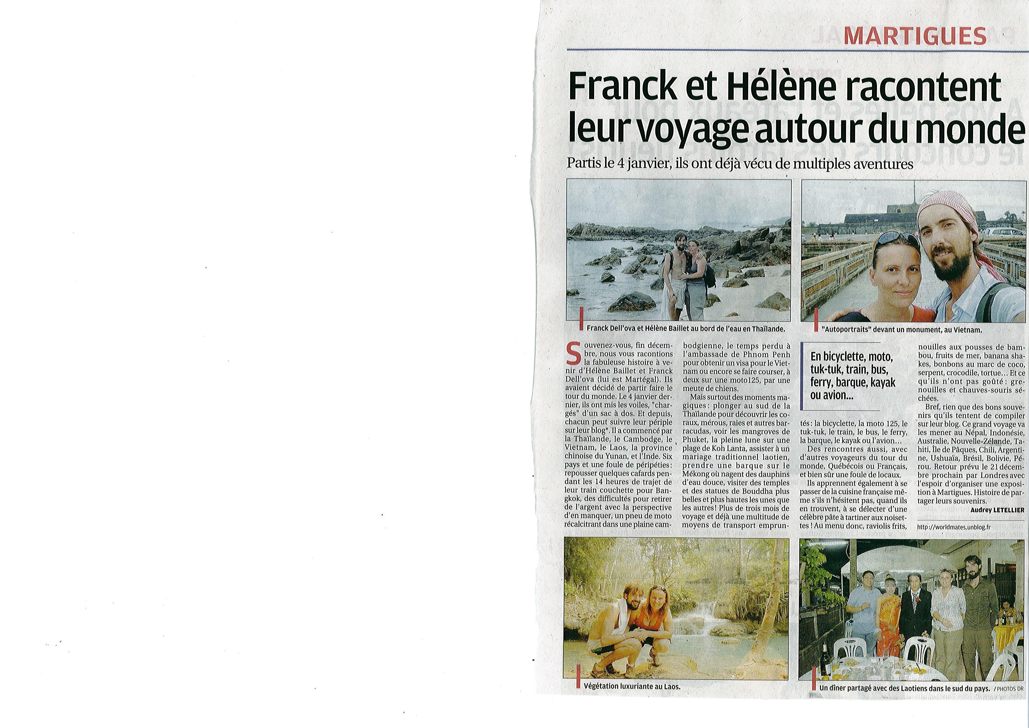 Article La Provence du 13 avrl 2010